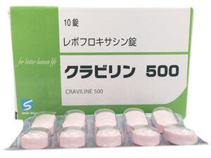 レボフロキサシン 効果 が 出る まで
